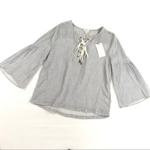 NWT dylan large striped blouse